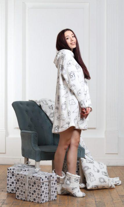 Женская пижама короткая с длинным рукавом