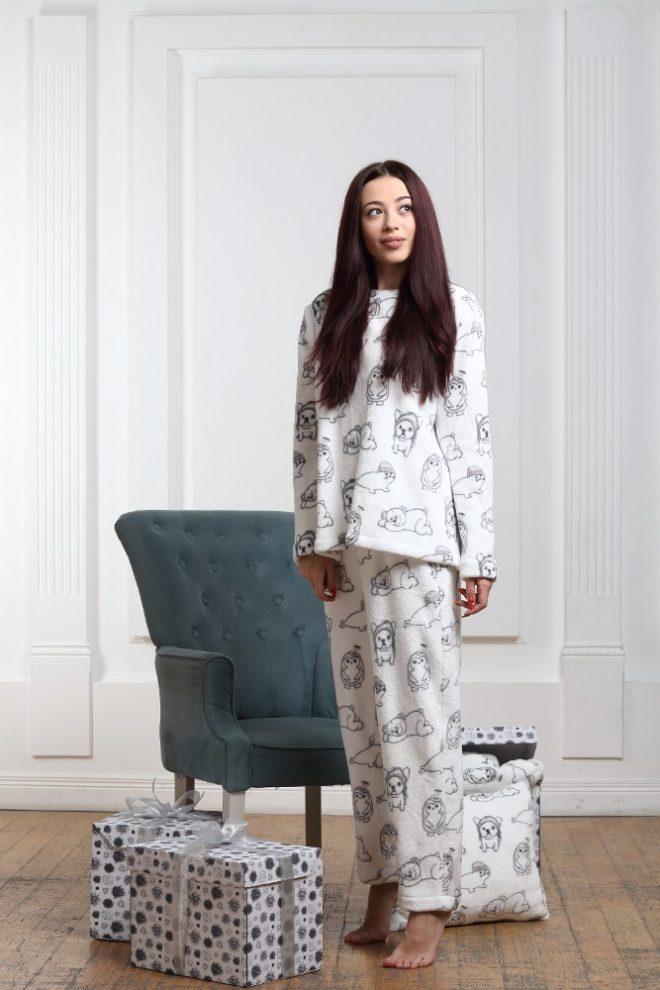 Женская пижама кофта и штаны