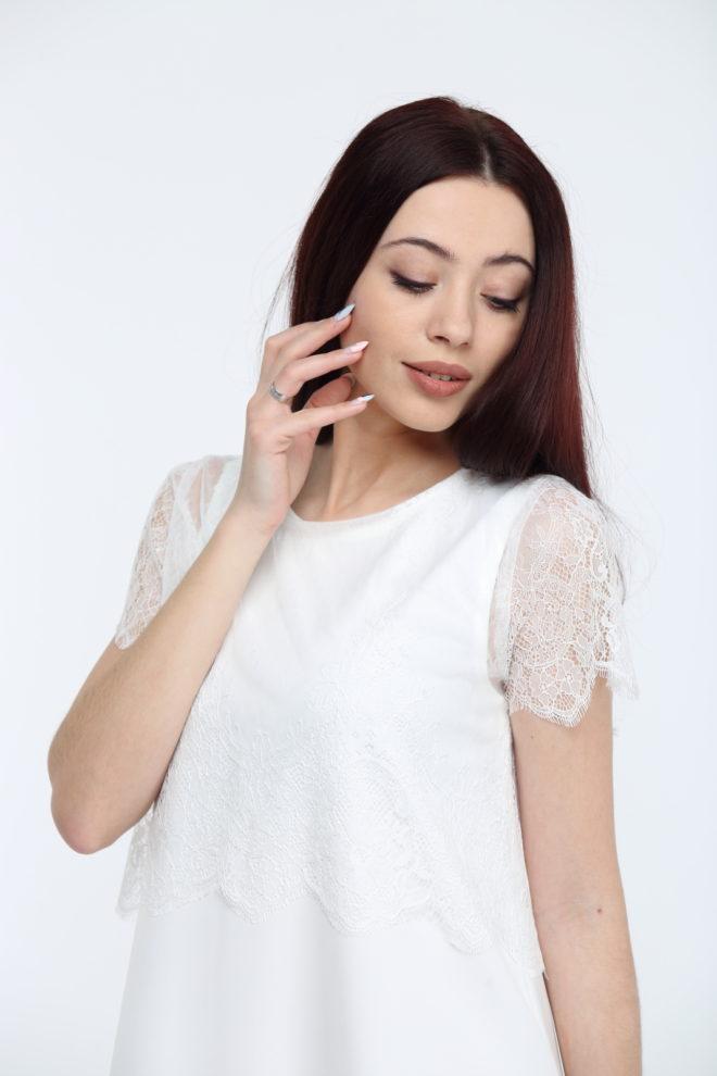 Белое кружевное болеро