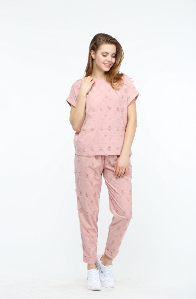 Штаны розового цвета