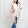 Пальто-пончо светло-розового цвета