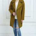 Пальто oversize оливкового цвета