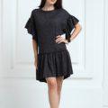 Трикотажное платье короткое черного цвета