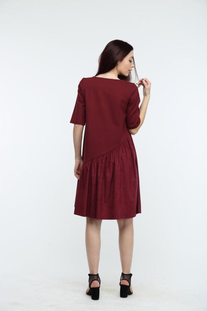 Замшевое платье новый фасон