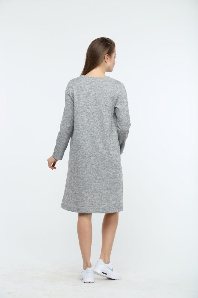 Платье серого цвета