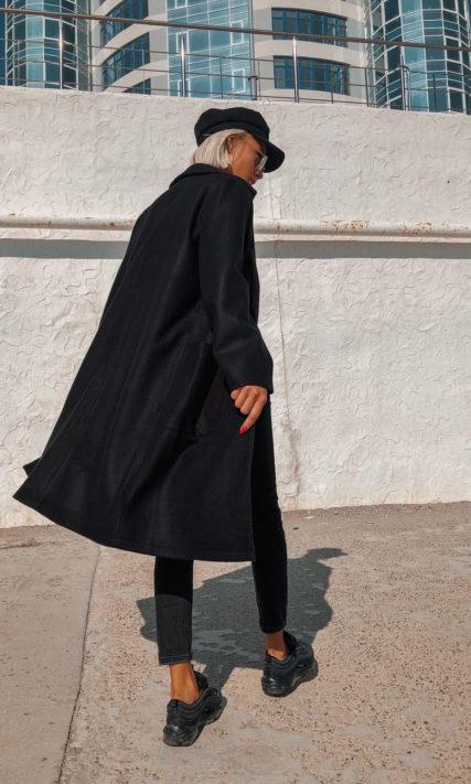 Длинный кардиган черного цвета
