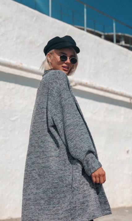 Серый кардиган с карманами One size
